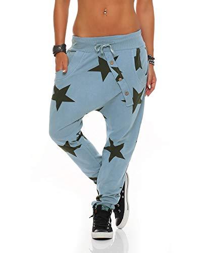 ZARMEXX Femmes Sweatpants Baggy Boyfriend bouton vers le bas des pantalons  de survêtement pantalons sport en e2436780b64