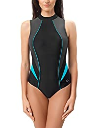 Gwinner Badeanzug Sportbadeanzug Schwimmanzug Bademode Damen einteilig sehr bequem und elastisch, aus hochwertigem Material made in EU Ivanka