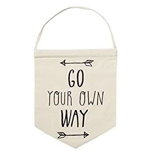 Go your own way Arrow Message Adventure appeso decorazione bandiera banner