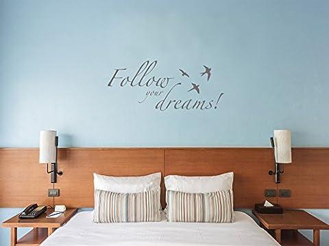 Follow your dreams! - Grau - ca. 140 x 60 cm