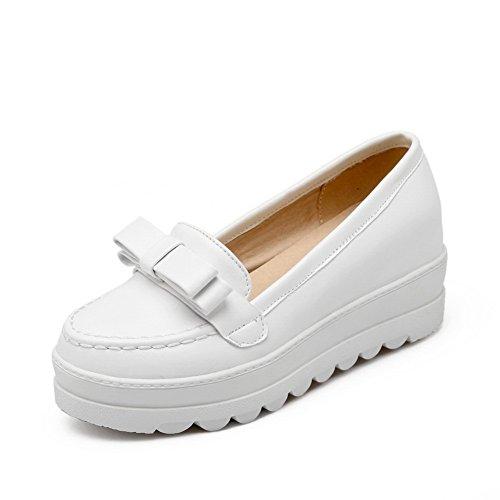 pompe donna superiore Shoes arrotondata da White pelle BalaMasa antiscivolo parte punta in 5nzITqZxw
