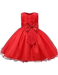 9a5377214 Yefree Vestido de Fiesta de Las Muchachas Vestido de niña de Las Flores  Corbata de Lazo
