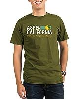 CafePress Aspen-California-dark-shirt T-Shirt Organic Men's T-Shirt dark