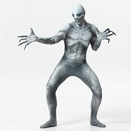 Satanist Kostüm - QYSHH Halloween, Cosplay Partei, Zombie Kostüm, Horror Zombie Skinny Jumpsuit, Erwachsene Bodysuit Kostüme für Karneval Party, langärmeliges Schlauchkleid, Legends of Evil