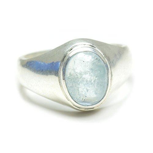 55Carat Herren -  Nicht zutreffend  Sterling-Silber 925 Ovalschliff   blau Aigue-marine