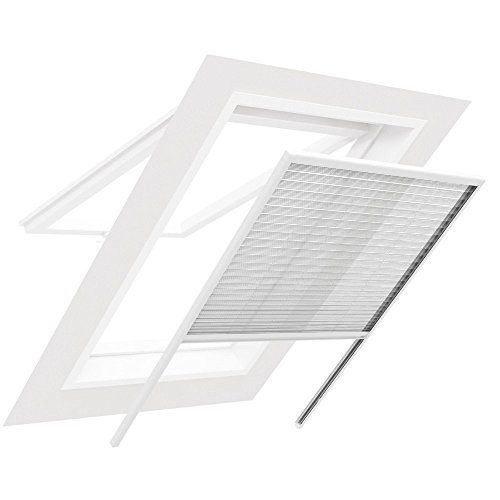 Plissee für Dachfenster BASIC - Fliegengitter Insektenschutz 170 cm x 170 cm weiß