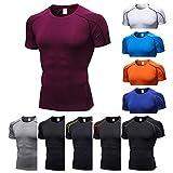 B-commerce - Sporthemden für Herren - Man Workout Leggings Fitness Laufen Yoga Oberteil Dry Fit Athletic Shirts Kurzarm