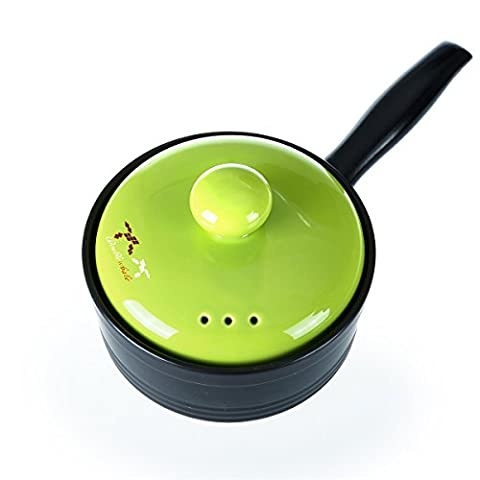 Ceramic Saucepan Casserole Dishes Soup Pots Fire 600 Degrees High Temperature Hot Pot Healthy Colorful Casseroles Dish Stockpots Stew Pot Porridge Clay Pot Sand Pot (Green)