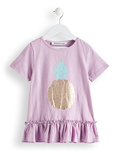 RED WAGON Mädchen T-Shirt mit Ananas-Motiv Violett (LILAC LILAC), 110 (Herstellergröße: 5)
