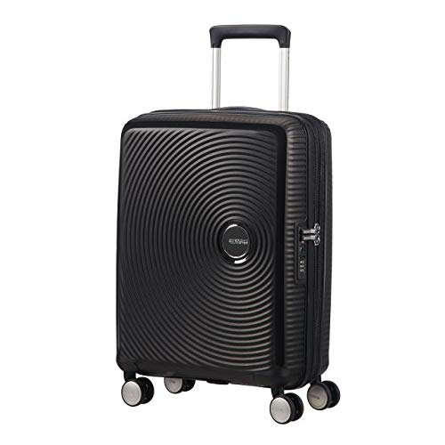 American Tourister - Soundbox Spinner Extensible, 55cm, 35,5/41 L - 2,6 KG, Noir (Bass Black)
