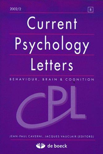 Current Psychology Letters 20022 -N.8 Recueil d'Articles