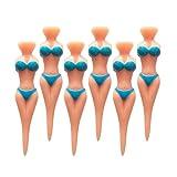 SPLHMILY Bikini Lady Tees da Golf, 6 pezzi blu Donna forma Plastica Modello Golf tees per tutti i golfisti di livello