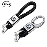 VILLSION 2Pack Genuine Leather Car Logo Keychain...