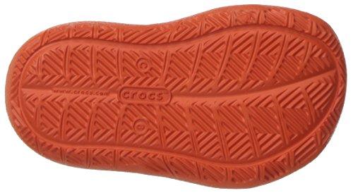 Crocs 204021, Chaussures à Lacets Oxford Mixte Enfant Tangerine