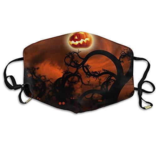 Daawqee Staubschutzmasken, Midnight Halloween Anti Dust Breathable Face Mouth Mask for Man ()