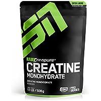 ESN Creapure® Creatine Monohydrate – 500g – 166 Portionen - hochwertiges reines Creatine Monohydrate – Vegan – Made in Germany