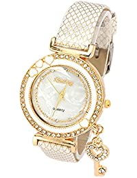 Young & Forever Analogue White Dial Women's & Girl's Watch (B55164-New)