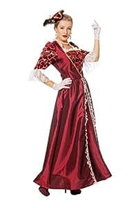 Deguisement Marquise Femme Taille - 48, Couleur - Bordeaux