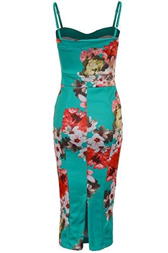 SAPPHIRE femmes Floral Sangle réglable Robe Bodycon mi-longue Femme - Print 4