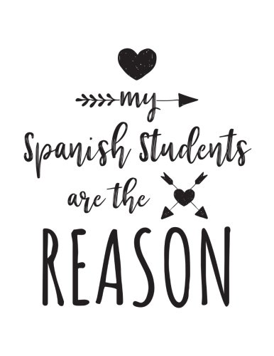 My Spanish Students Are The Reason: Spanish Teacher Appreciation Journal Notebook por Dartan Creations