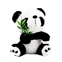 MQUPIN 20cm Cute Panda Toy Soft Panda BearToy With Bamboo Animal Doll Toys Panda Toys Great Gift for Kids