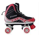 California Pro Storm Quad roller skate, unisex, Storm, Black/Red, 43