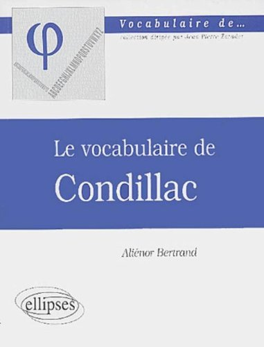Le vocabulaire de Condillac