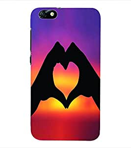 ColourCraft Love Heart Back Case Cover for HUAWEI HONOR 4X