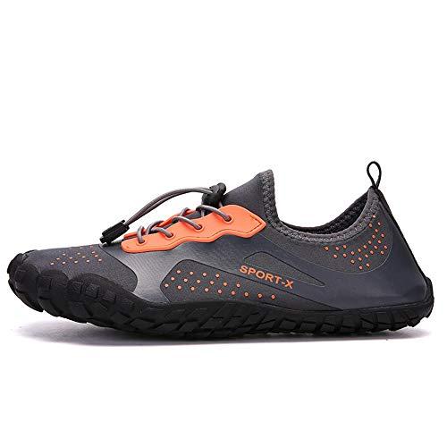 Wsw Bequem Outdoor-Sport Fünf-Finger-Mesh-Gummi-Material Upstream-Schuhe Männer Strand Schnell Trocknend Atmungsaktiv rutschfeste Tauchschuhe (grau) (Farbe : Gray, Size : US5)