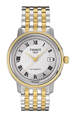 Tissot BRIDGEPORT T0454072203300 automático, correa de acero inoxidable color gris