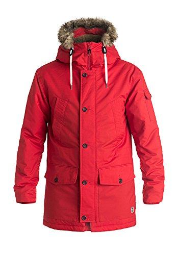 Quiksilver Ferris Parka M Jckt Tmp0, Color: Racing Red, Size: S