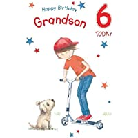 For A Special Grandson On Your 6th Birthday Card Lovely Verse