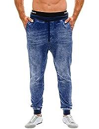 e1469b7b69eb Geili Jeanshose Herren Übergrößen Lang Jeans Hosen mit Gummiband und  Kordelzug Männer Herbst Winter Freizeit Basic