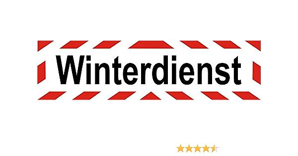 Indigos Ug Magnetschild Winterdienst Mit Streifen 30 X 8 Cm Magnetfolie Für Auto Lkw Truck Baustelle Firma Auto