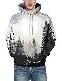 Anglewolf 2019 New Printing Hooded Hoodies for Men/Women 3D Sweatshirts Long Sleeve Hoodie Cap Pullovers Hip Hop Tops Men's Casual Autumn Winter Caps Sweatshirt Top Blouse