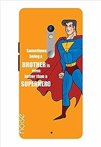 Noise Superhero-Orange Printed Cover for Motorola Moto X Play