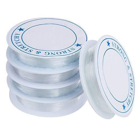 5X Spule elastisch Schmuckfaden Gummifaden Faden 0.7mm