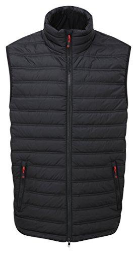 Castle ropa 235Elite chaleco acanalado para hombre, color negro, tamaño large