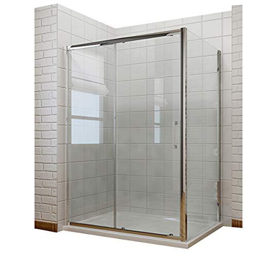 Duschkabine 120x70x190 cm Rechteck Schiebetür Duschabtrennung