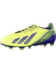 f468b0bbba5e8 Adidas ADIZERO F50 TRX FG LEATHER Zapatillas Football Amarillo Azul Oscuro  Cuero para Hombre