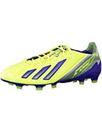 Adidas ADIZERO F50 TRX FG LEATHER Zapatillas Football Amarillo Azul Oscuro Cuero para Hombre