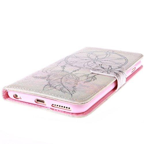 2015New Fashion Wallet Case pour Apple iPhone 6Plus (14cm), Yaobai Elegant Fleur [magnétique] PU Cuir Portefeuille [Fermeture] Folio Stand Coque Sports d'extérieur Coque Coque de prot
