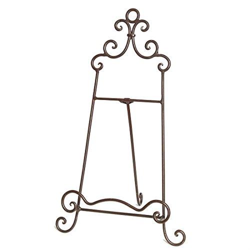Fashionpillow -1211295- Vintage Staffelei | Antikbrauner Vintage Leinwand - Metallständer / Aufsteller