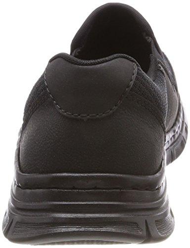 Rieker Herren B4873 Slip On Sneaker Schwarz (Schwarz/Schwarz/Schwarz)