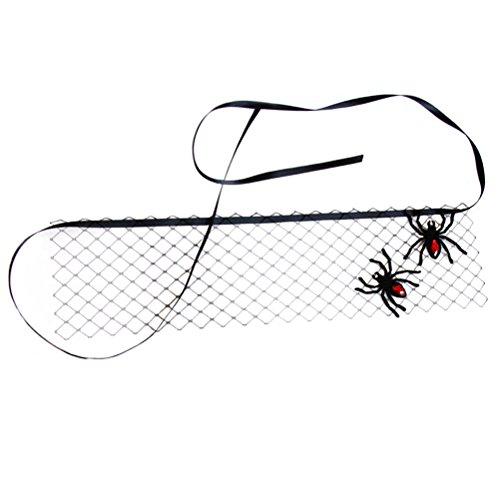 BESTOYARD Netzmaske Spinne Maskerade Halloween Spinne Schwarz Tüll Schleier Für Frau Tanzen Maskerade Ball Kostüm Party Maske ()