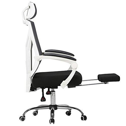 Folding chair LVZAIXI Silla ergonómica de Respaldo Alto para Juego Grande, Silla...
