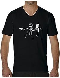 Daft Punk Rap Electro Group Camiseta Cuello V para hombre