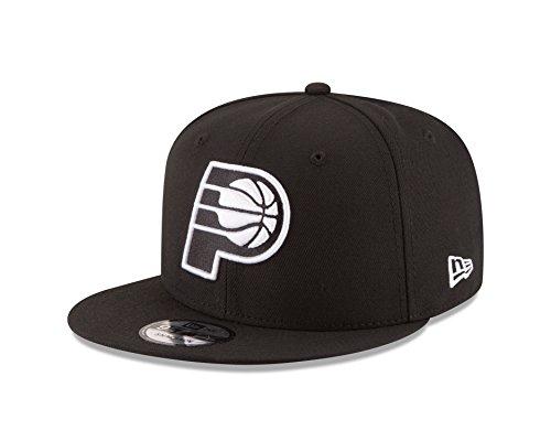 New Era Indiana Pacers NBA Black White Logo 9fifty Snapback Cap Limited Edition (Indiana Basketball Bekleidung)