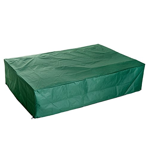 Housse de protection étanche pour meuble salon de jardin rectangulaire 245L x 165l x 55H cm vert
