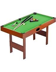 TAVOLO Da BILIARDO PALLE Da Snooker Pool GIOCO Gratuito e Accessori Rivestimento Verde In Legno Professionale Triangolo Per Bambini